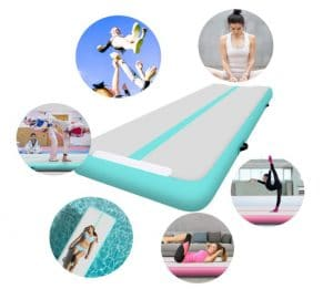 tapis de gym pliable et gonflable